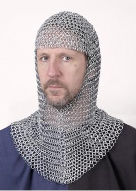 Camail de combat médiévale - Anneaux 9mm - galvanisé