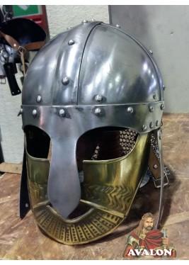 Casque Viking - Casque Viking avec masque en laiton