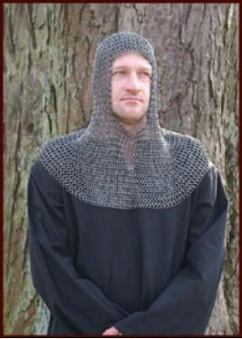 Camail de combat médiévale - Anneaux rivets rondes - 8 mm