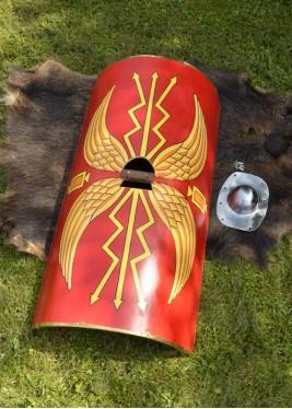 Bouclier Romain - Scutum des légionnaires Umbo en acier en acier
