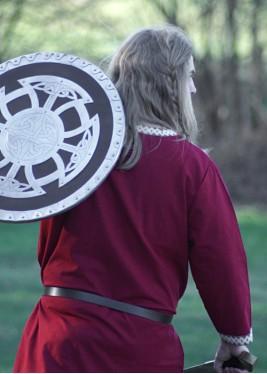 Tunique Viking - Tunique en coton, rouge foncé