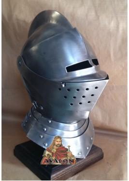 Casque de chevalier médiéval - Armet - Casque médiéval