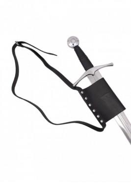 Ceinture avec porte-épée - cuir noir