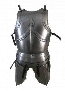 Armure gothique avec poches sur les jambes, acier 1,2 mm