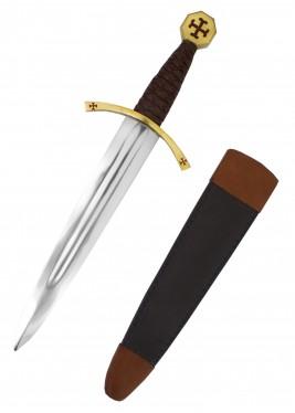 Dague templière avec fourreau en cuir