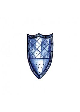 Bouclier médiéval avec trois points