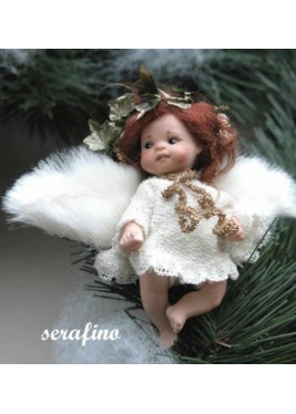 Serafino, Poupée fée en porcelaine de 7 cm