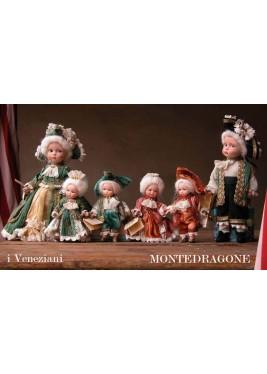 Les Vénitiens (petit) - Paire de 700 - Poupée Porcelaine 13 cm