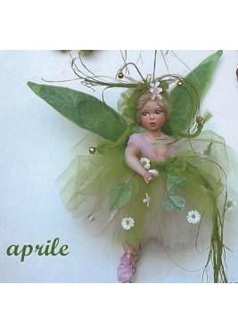 Fée Avril, Poupée fée en porcelaine de 28 cm