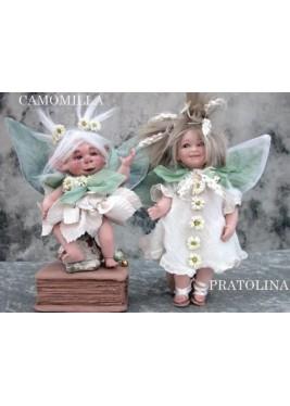 Fée Camomille et Pratolina, Poupée fée en porcelaine