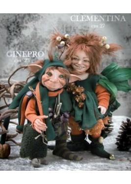 Poupées Elfes - Clémentine et Genévrier-  Poupées Porcelaine Collection