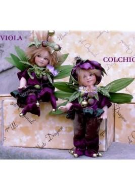 Poupées Colchico et Viola, Poupée Collection, 18 cm
