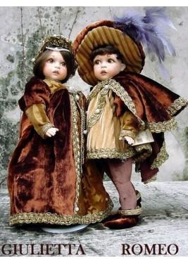 Poupées Roméo et Juliette, Poupée de Collection - Hauteur 34 cm,
