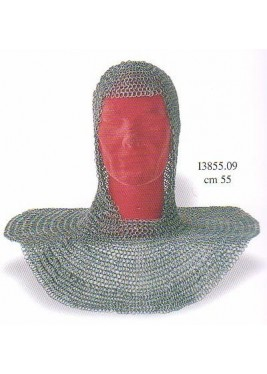 Camail de combat médiévale, anneaux 8mm