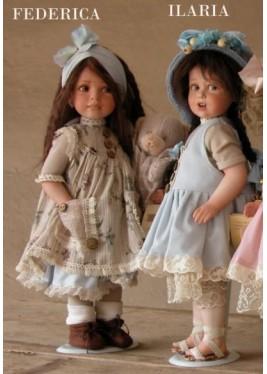 Poupée de Collection Ilaria et Federica - Hauteur 38 cm