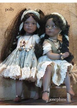 Poupée Porcelaine - Polly et Joséphine