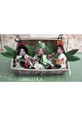 Fées Libellule, Poupée fée en porcelaine de 12 cm