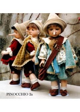 Poupée Pinocchio joyeux-sérieux Conte des Fée, 45 cm