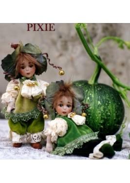 Poupée Elfe Pixie, Poupée Porcelaine Collection, 18 cm