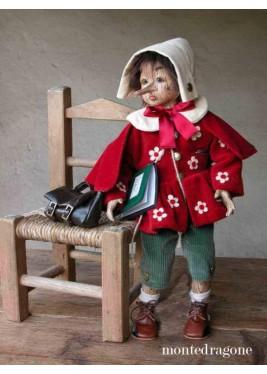 Poupée Pinocchio Effet Bois, 54 cm - poupée porcelaine de collection