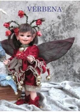 Fée Verveine, Collection de poupée fée en porcelaine, 24 cm