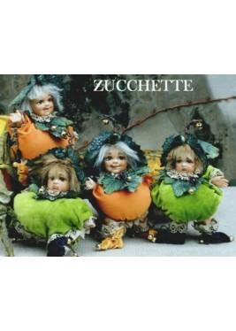 Poupée Elfe des Gourdes, Poupée Porcelaine Elfe, 16 cm