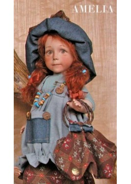Poupée de Collection Amelia - Hauteur 42 cm