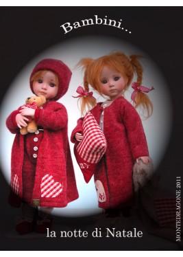 Les enfants à Noël Poupée à Collectionner - Hauteur 29 cm