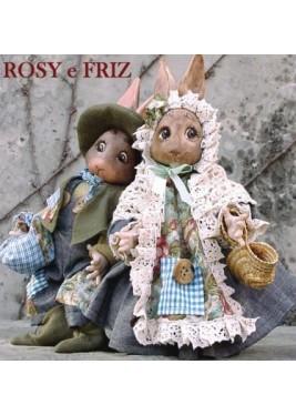 Poupées Lapins Rosy et Friz, 28cm - Poupées Porcelaine Collection
