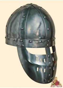 Casque Spangenhelm - Casque médiévale à faciale