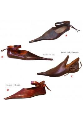 Poulaine Chaussures médiévale