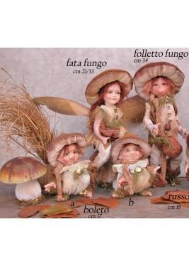 Fée de champignon, Poupée fée en porcelaine de 21/33 cm