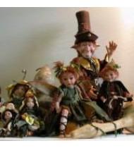 Poupées Elfes en porcelaine