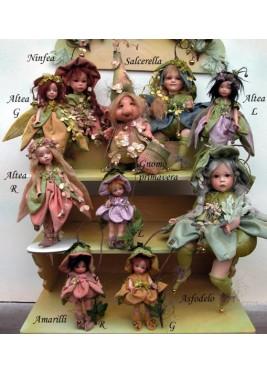Salcerella et Asfodelo-  Poupées fées en porcelaine de  22/33 cm