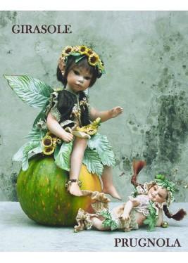 Fée Tournesol, Poupée fée en porcelaine de 36 cm