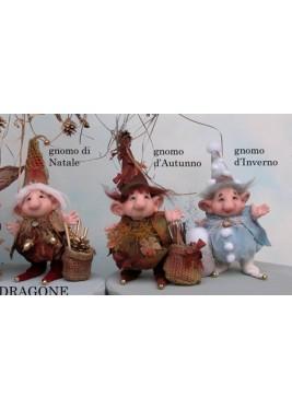 Gnome Automne Hiver Noël, Poupée Porcelaine Collection