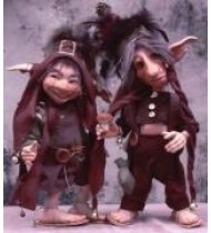 Poupées Gnomes et lutins en porcelaine