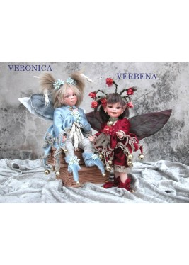 Fée Veronica, Collection de poupée fée en porcelaine 26 cm