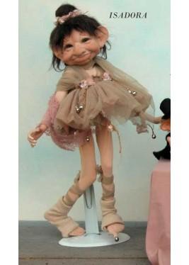 Danseuse Isadora, Poupée Porcelaine Collection, 40 cm