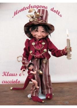Klaus avec chiot, Poupée Porcelaine Collection