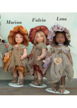 Poupées de Collection Marina, Fulvia, Lena- Hauteur 30 cm