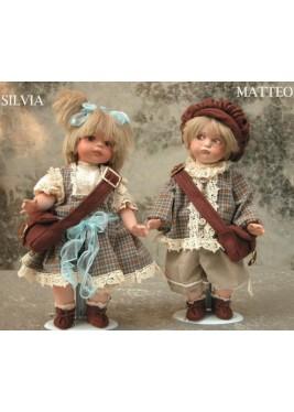 Poupées Matthieu et Silvia, Poupée de Collection - Hauteur 35 cm