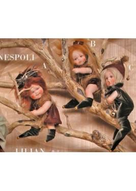 Poupée Elfe Néflier, Poupée Porcelaine Collection, 20 cm
