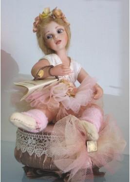 Poupée Porcelaine, Luisa ballerine avec Carillon