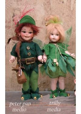 Poupée Porcelaine, Peter Pan, Fée Clochette
