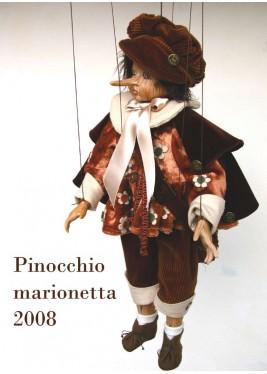 Marionnette Pinocchio 2008, marionnette en porcelaine