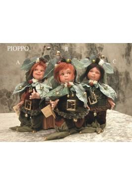 Poupée Elfe Peuplier, Poupée Porcelaine Elfe, 26 cm
