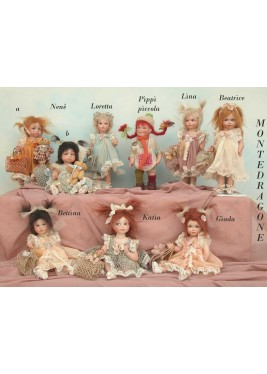 Poupée Porcelaine - Nene, Loretta, Pippi, Lina