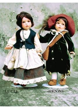 Poupées de Collection Renzo et Lucia,  - Hauteur 34 cm
