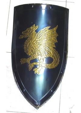 Bouclier médiévale avec Dragon Ailé